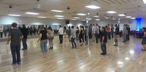 Sunday night salsa at Paragon Dance Center.