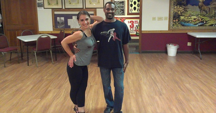salsa dance instructors at elks lodge