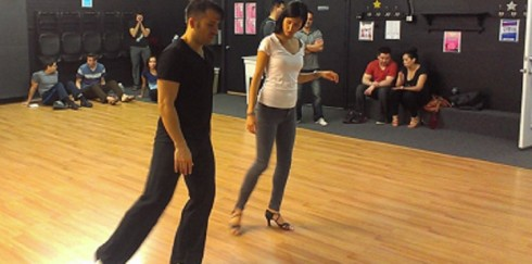Salsa lesson with David Olarte.