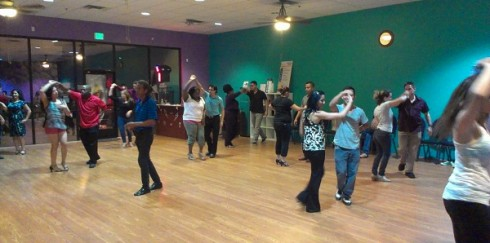 Monday salsa lesson with Yana Naftaliev.