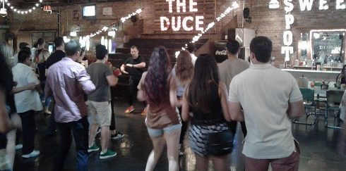 Salsa Bachata Kizomba dancing at The Duce every Thursday.